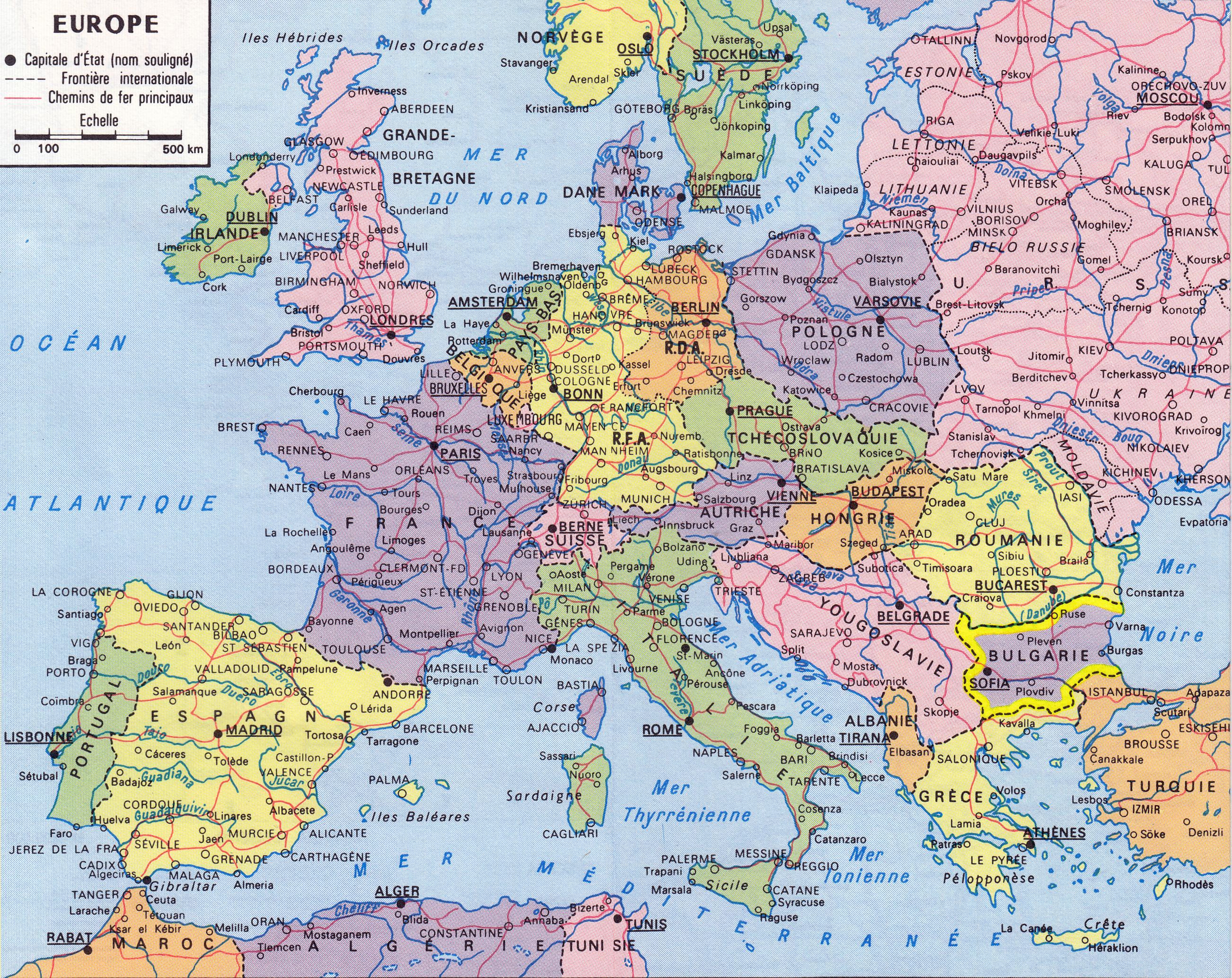 Karta 2019 Ptna Karta Na Evropa Na Blgarski